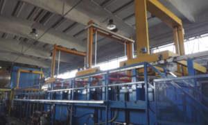 il macchinario per la verniciatura